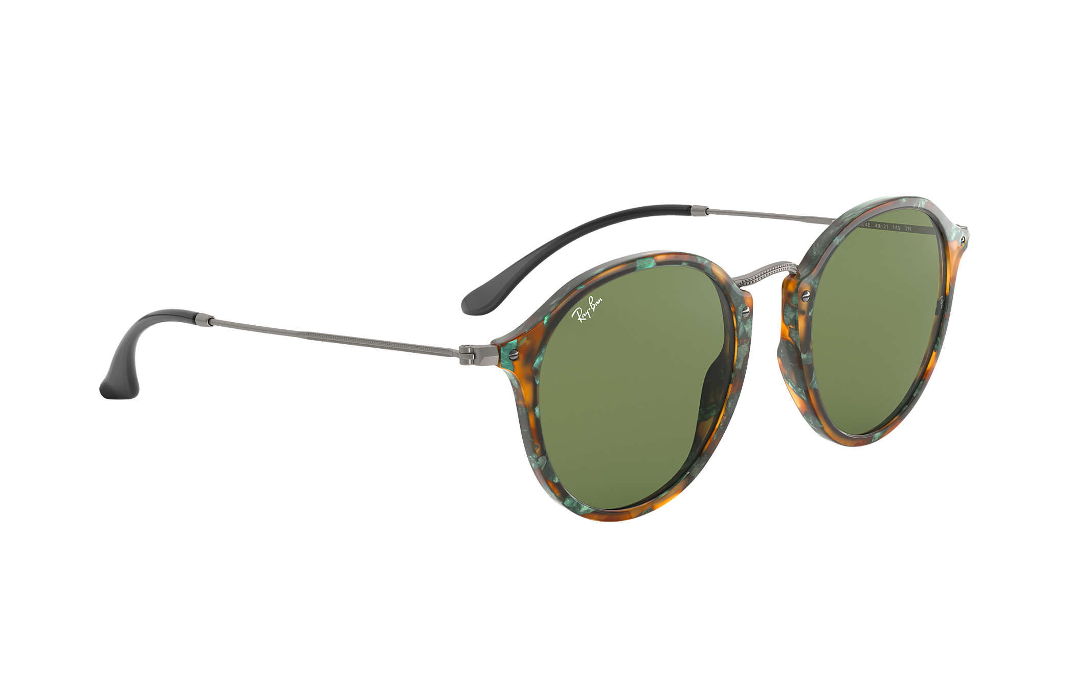 0dabdd1efe Ray-Ban Round Fleck RB2447 Tortoise - Acetate - Green Lenses ...