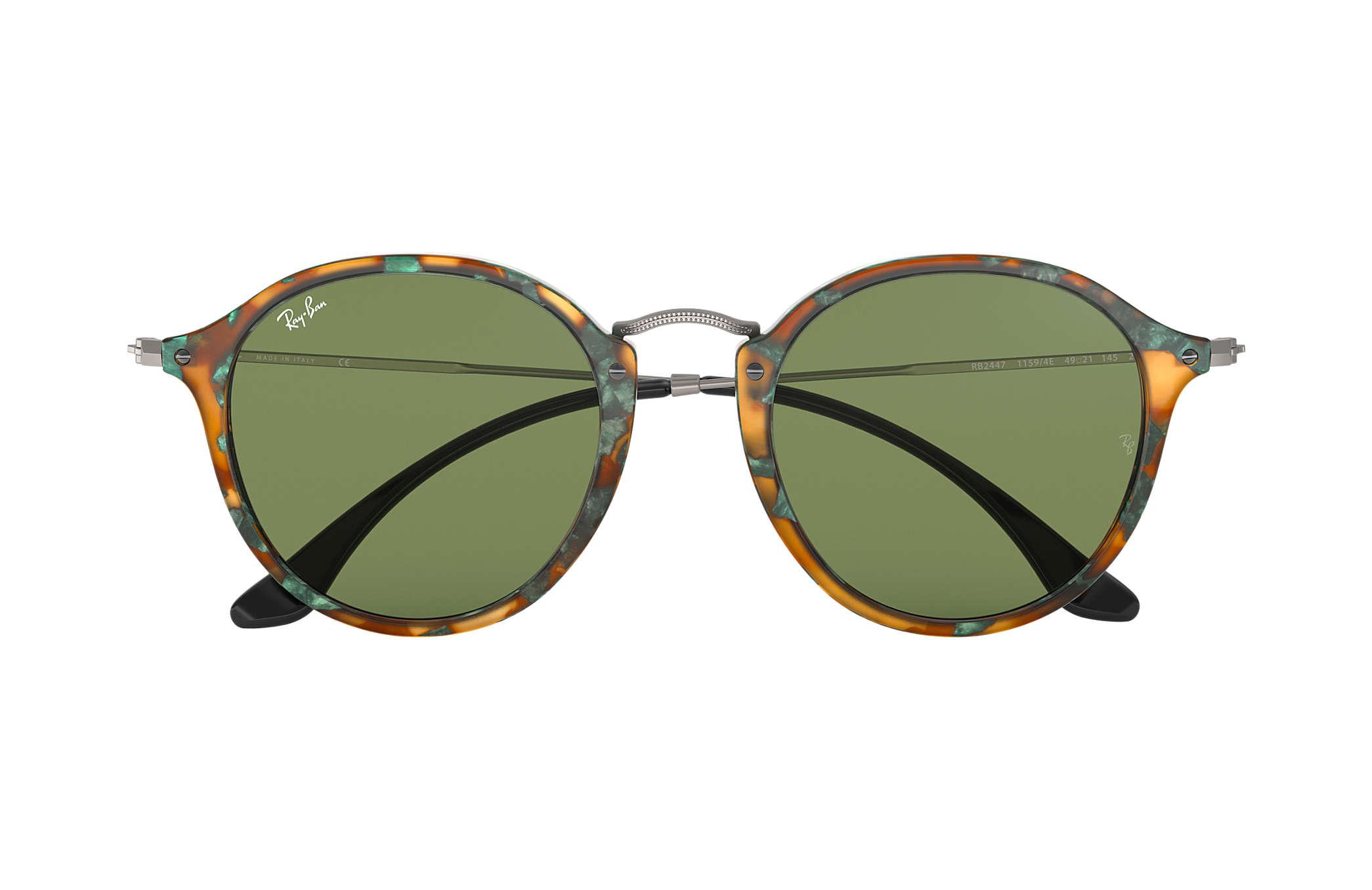 c8d85ef7690 Ray-Ban Round Fleck RB2447 Tortoise - Acetate - Green Lenses ...