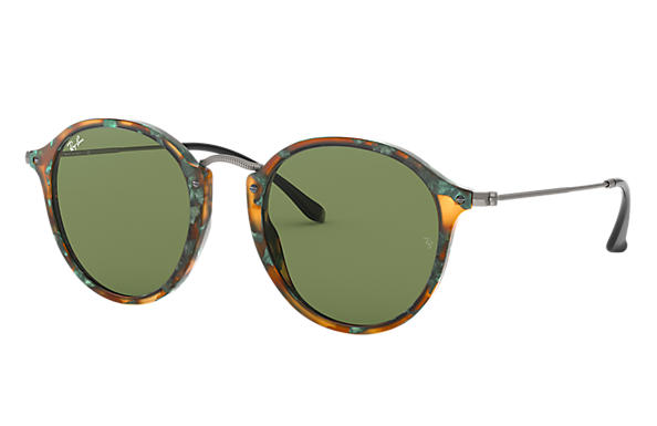 01be7d3b83 Ray-Ban Round Fleck RB2447 Tortoise - Acetate - Brown Lenses ...