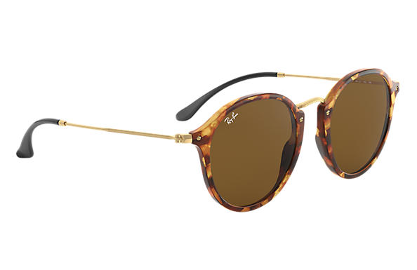67a64da936 Ray-Ban Round Fleck RB2447 Tortoise - Acetate - Brown Lenses ...