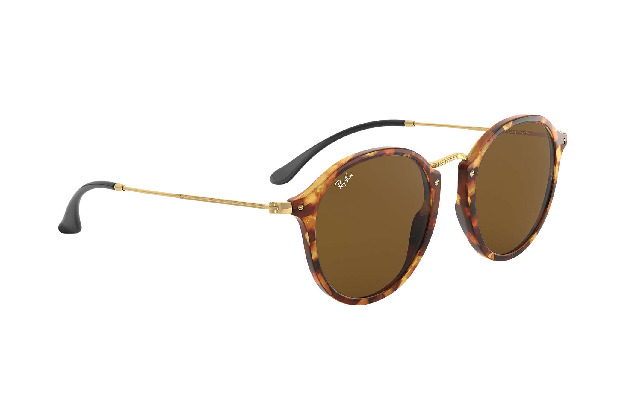 c105b4231e4fd Ray-Ban Round Fleck RB2447 Tortoise - Acetate - Brown Lenses ...