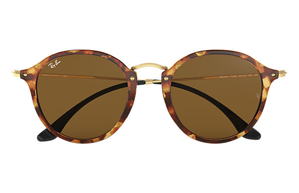 3fe73ba6aa Ray-Ban Round Fleck RB2447 Tortoise - Acetate - Brown Lenses ...
