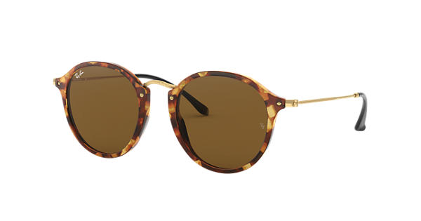 Ray-Ban Round Fleck RB2447 Tortoise - Acetate - Brown Lenses -  0RB2447116049   Ray-Ban® USA 112310eff8
