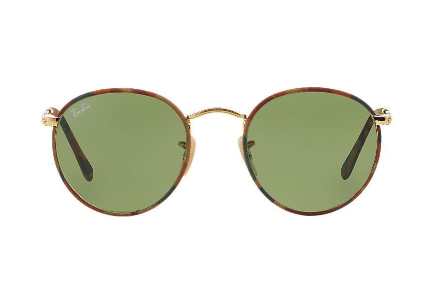 Ray-Ban ROUND CAMOUFLAGE Multicolor with Green Classic lens