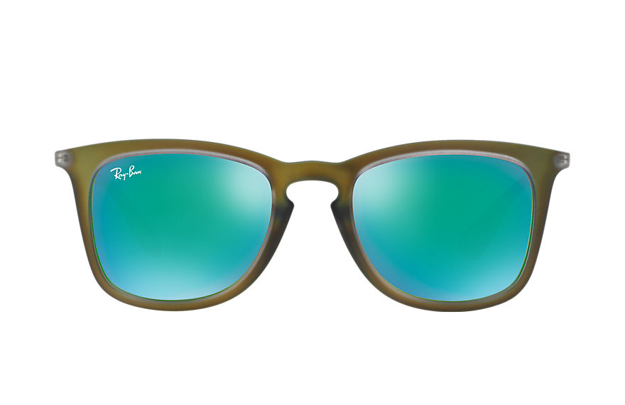 Ray-Ban RB4221 Green with Green Mirror lens