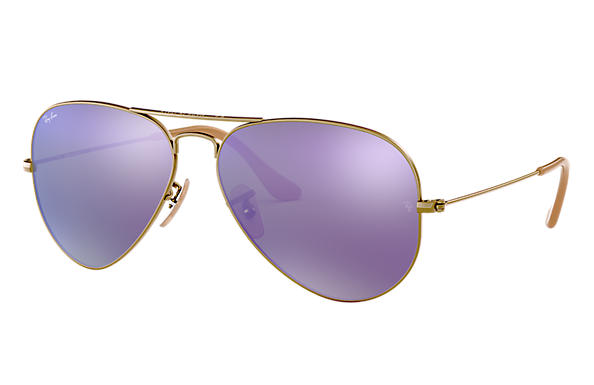 Ray-Ban 0RB3025-AVIATOR FLASH LENSES Bronze-Kupfer SUN