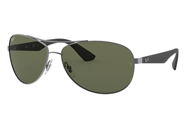 Ray-Ban		 0RB3526-RB3526 Gunmetal; Black SUN