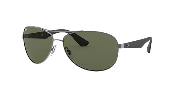 2f99774600e Ray-Ban RB3526 Gunmetal - Metal - Green Polarized Lenses - 0RB3526029 9A63