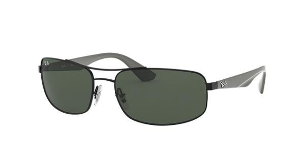7e06fd4d56 Ray-Ban RB3527 Black - Metal - Green Lenses - 0RB3527006 7161