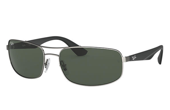 Ray-Ban RB3527 Gunmetal with Green Classic lens