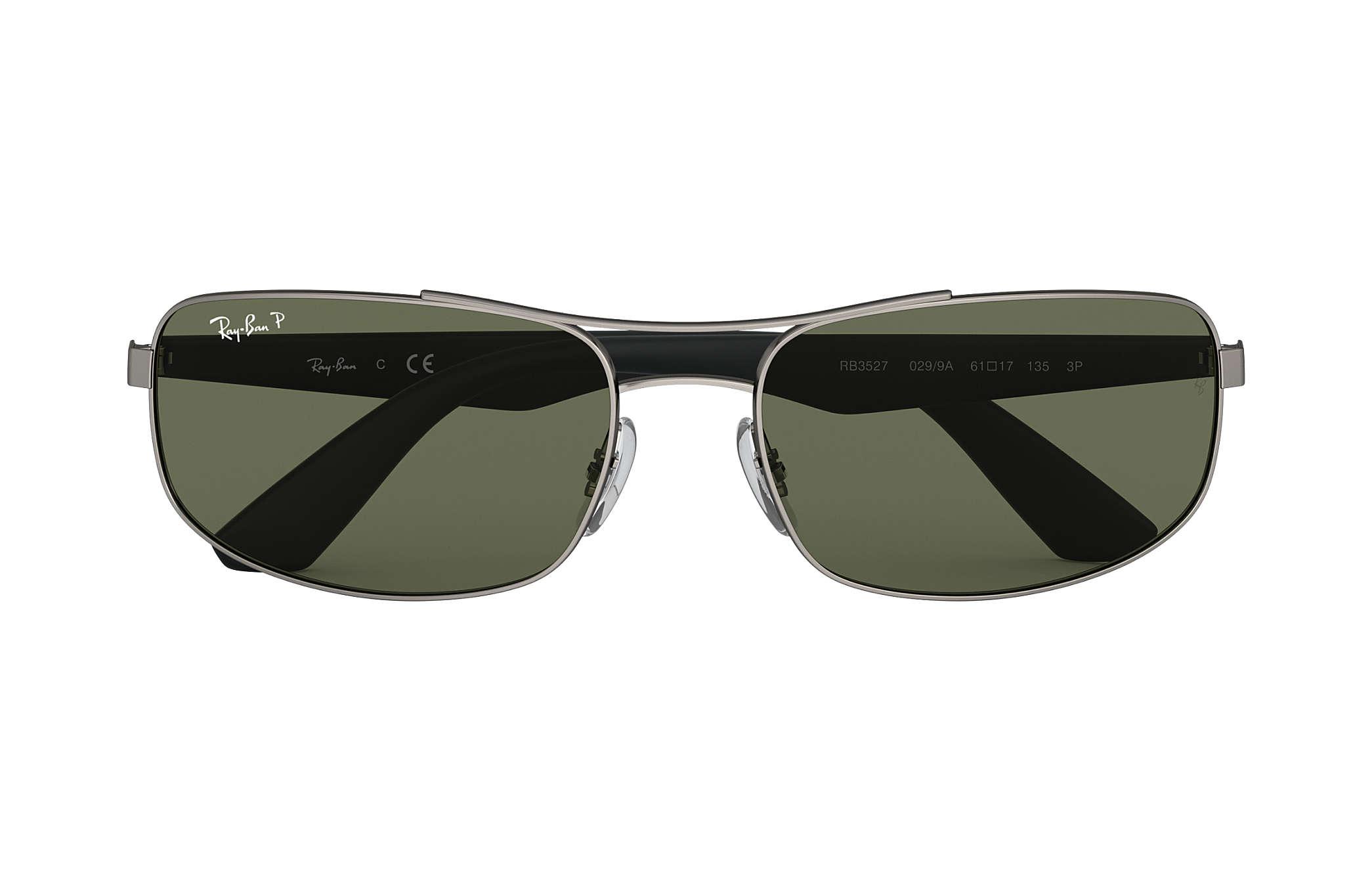 0b46abc158f7e Ray-Ban RB3527 Gunmetal - Metal - Green Polarized Lenses ...