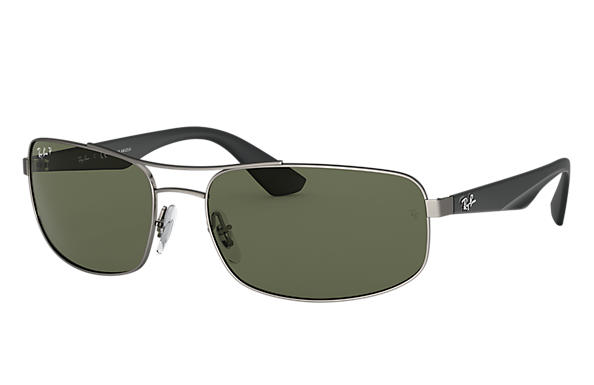 0cda32014e Ray-Ban RB3527 Gunmetal - Metal - Green Polarized Lenses ...