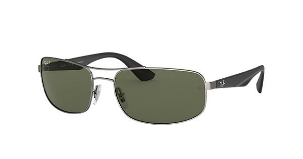a18d416b37 Ray-Ban RB3527 Gunmetal - Metal - Green Polarized Lenses - 0RB3527029 9A61