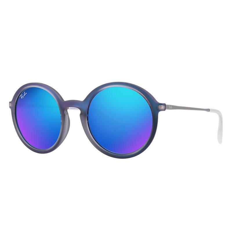 Ray-Ban Gunmetal Sunglasses, Blue Lenses - Rb4222