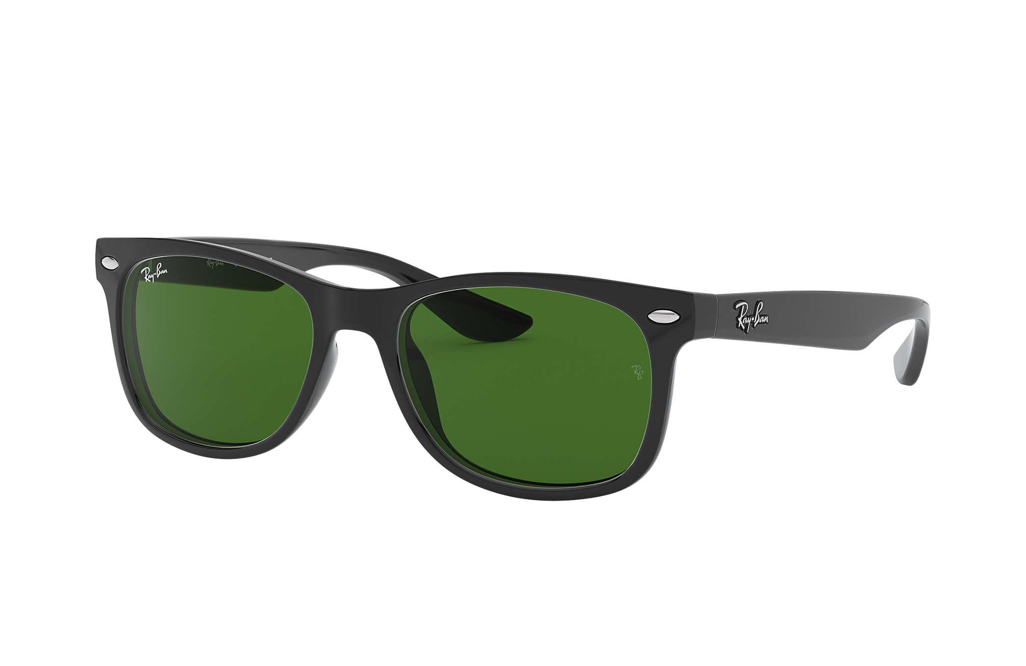 394ce48d3794 Ray-Ban New Wayfarer Junior RB9052S Black - Nylon - Green Lenses ...