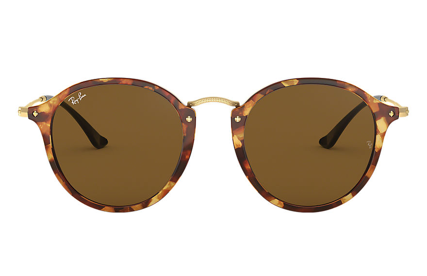 Ray-Ban ROUND FLECK Tortoise with Brown Classic B-15 lens