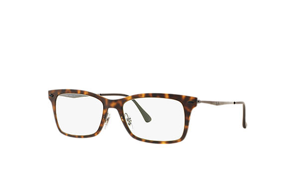 Ray-Ban 0RX7039-RB7039 Havane; Gun OPTICAL