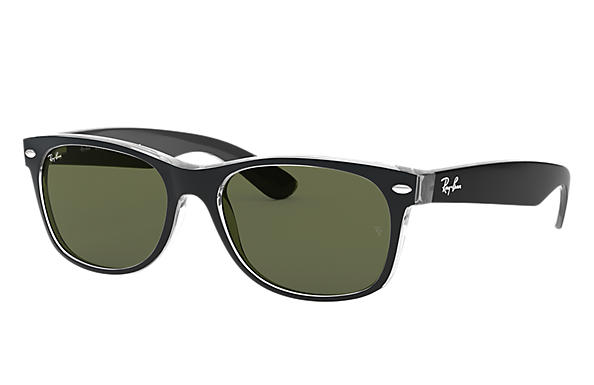 Ray-Ban 0RB2132F-NEW WAYFARER COLOR MIX Transparent; Black SUN