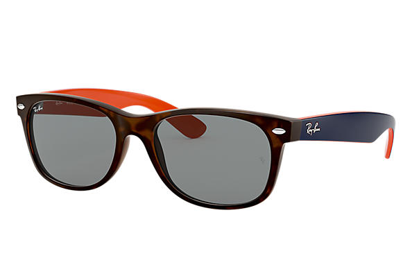 Ray-Ban Sunglasses NEW WAYFARER BICOLOR Tortoise with Blue/Gray Classic lens