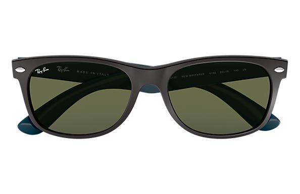 3e2090d66 Ray-Ban New Wayfarer Bicolor RB2132 Black - Nylon - Green Lenses ...