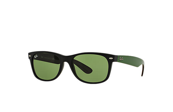Ray-Ban 0RB2132-NEW WAYFARER BICOLOR Black; Green SUN