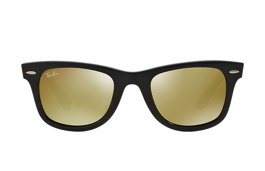 Ray-Ban ORIGINAL WAYFARER BICOLOR Black with Yellow Flash lens