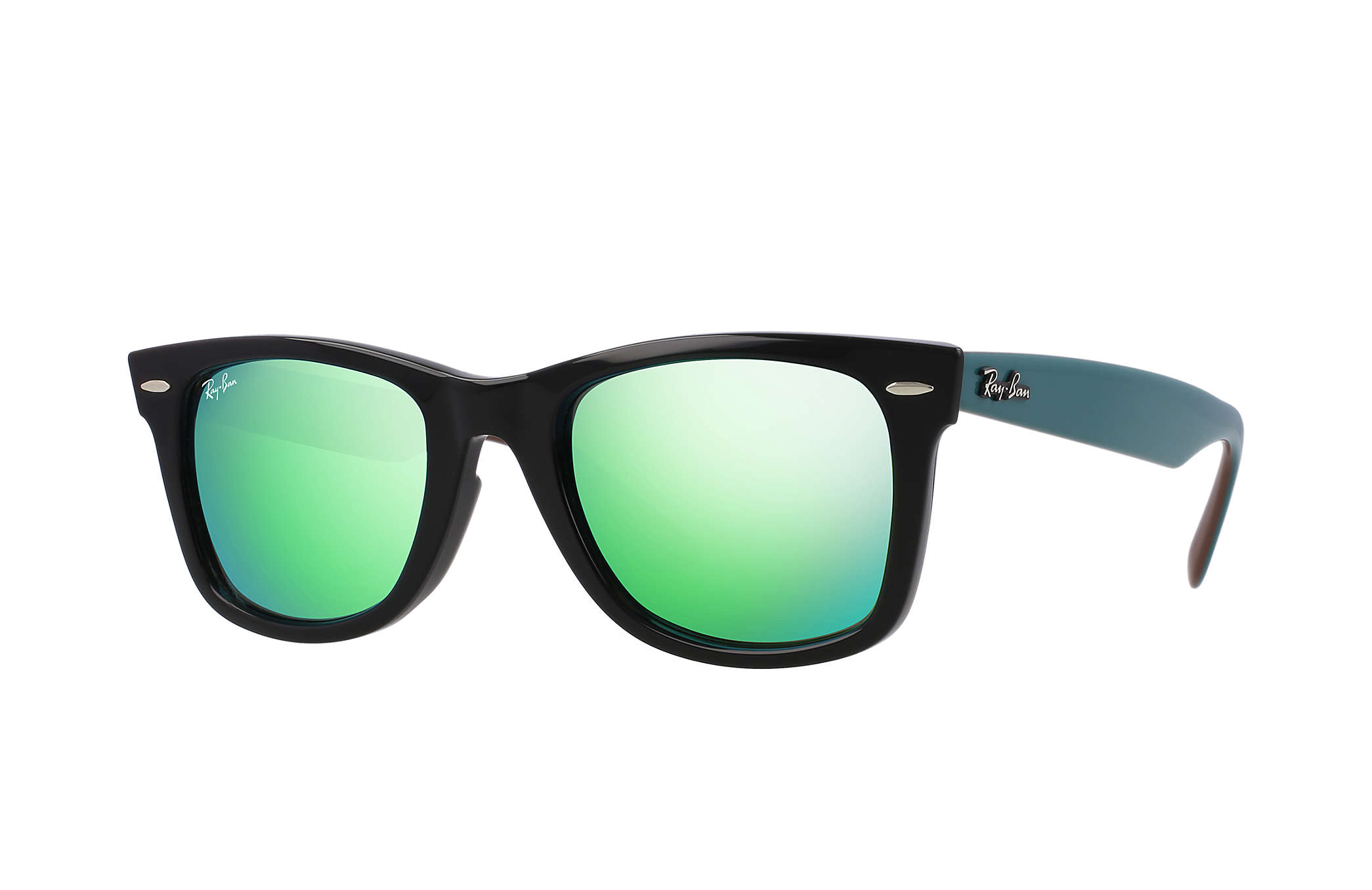 Ray-Ban Original Wayfarer Bicolor RB2140 Black - Acetate - Green ... d812dc341407