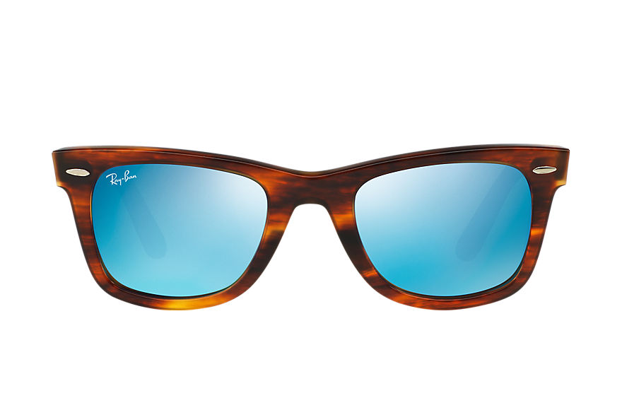 Ray-Ban ORIGINAL WAYFARER BICOLOR Tortoise with Blue Flash lens