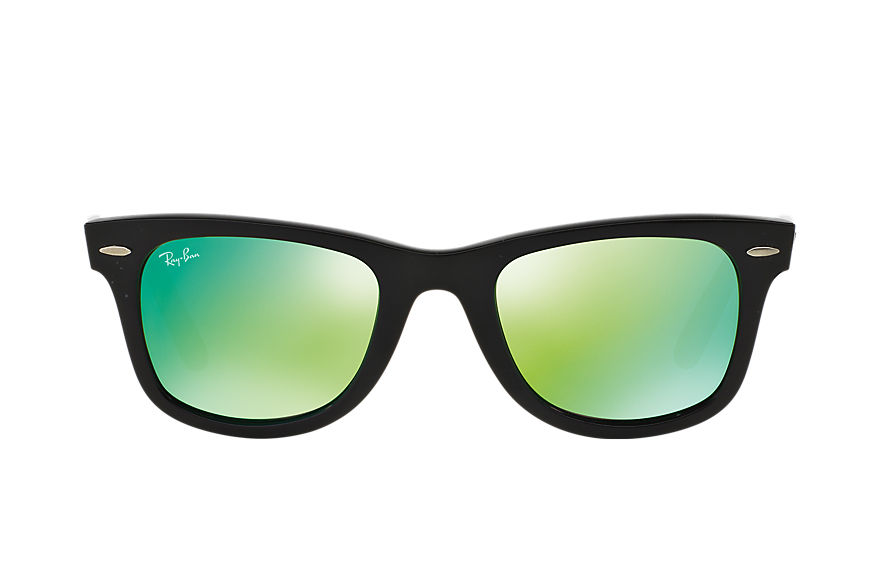 Ray-Ban ORIGINAL WAYFARER BICOLOR Black with Green Flash lens