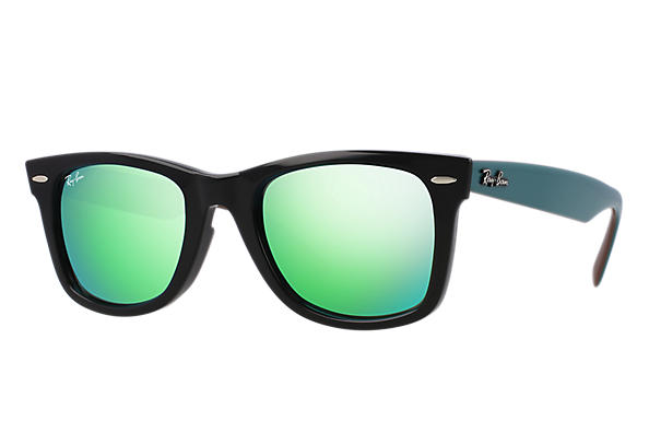 Ray-Ban 0RB2140-ORIGINAL WAYFARER BICOLOR Black; Green,Brown SUN