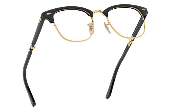 ray ban prescription glasses clubmaster folding optics rb5334 black rh ray ban com  ray ban clubmaster sunglasses black and gold