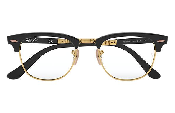a1e8811d41 Ray-Ban prescription glasses Clubmaster Folding Optics RB5334 Black ...
