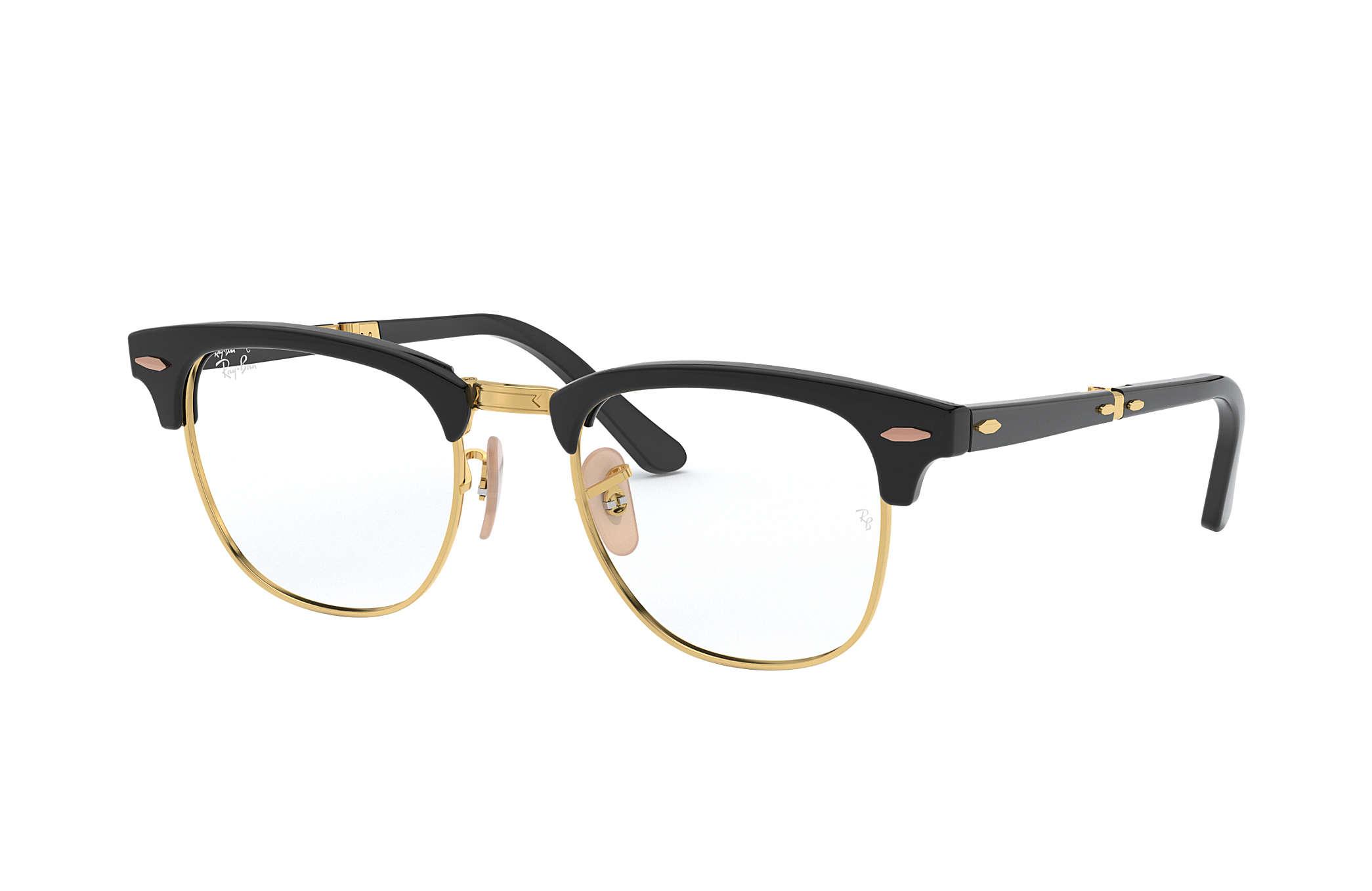 f10c7f32d4d9a Ray-Ban prescription glasses Clubmaster Folding Optics RB5334 Black ...