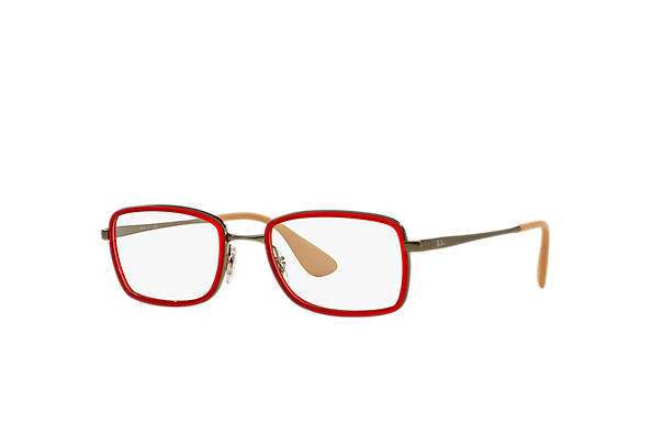 Ray-Ban 0RX6336-RB6336 Red; Gunmetal OPTICAL