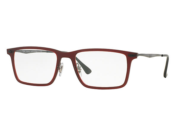 Ray-Ban 0RX7050-RB7050 Red; Gunmetal OPTICAL