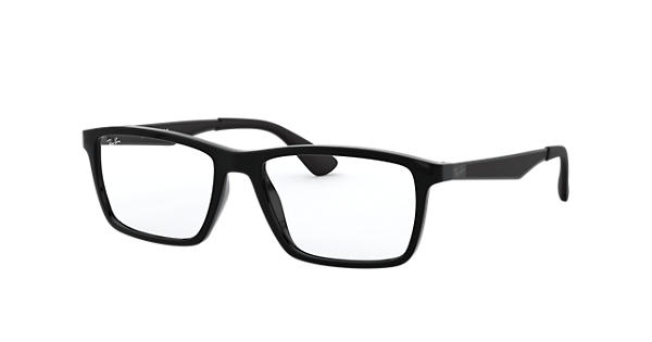2088dcf676 Ray-Ban prescription glasses RB7056 Black - Nylon - 0RX7056200053 ...