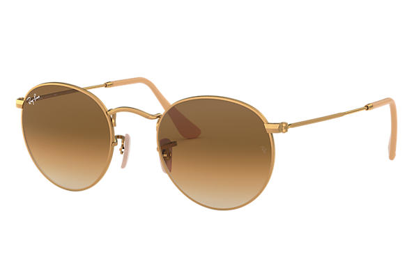 Ray-Ban 0RB3447-ROUND METAL Or SUN