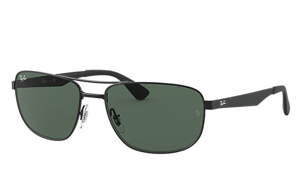 b6af9d9438 Ray-Ban RB3528 Black - Metal - Green Lenses - 0RB3528006 7158