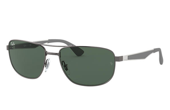 cb4c31e51d Ray-Ban RB3528 Gunmetal - Metal - Green Lenses - 0RB3528029 7161 ...