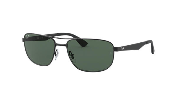 c5f1d9098c4 Ray-Ban RB3528 Black - Metal - Green Lenses - 0RB3528006 7161