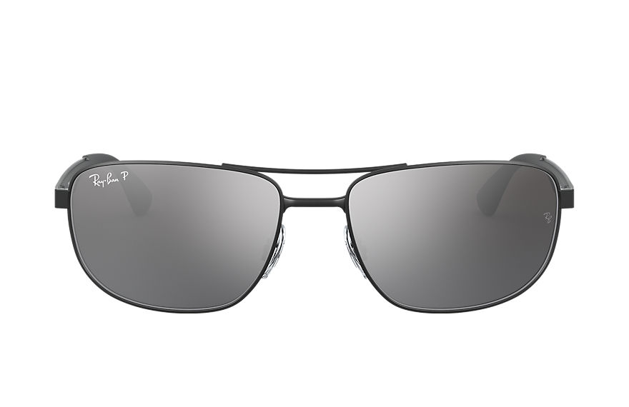 Ray-Ban RB3528 Black with Silver Mirror lens