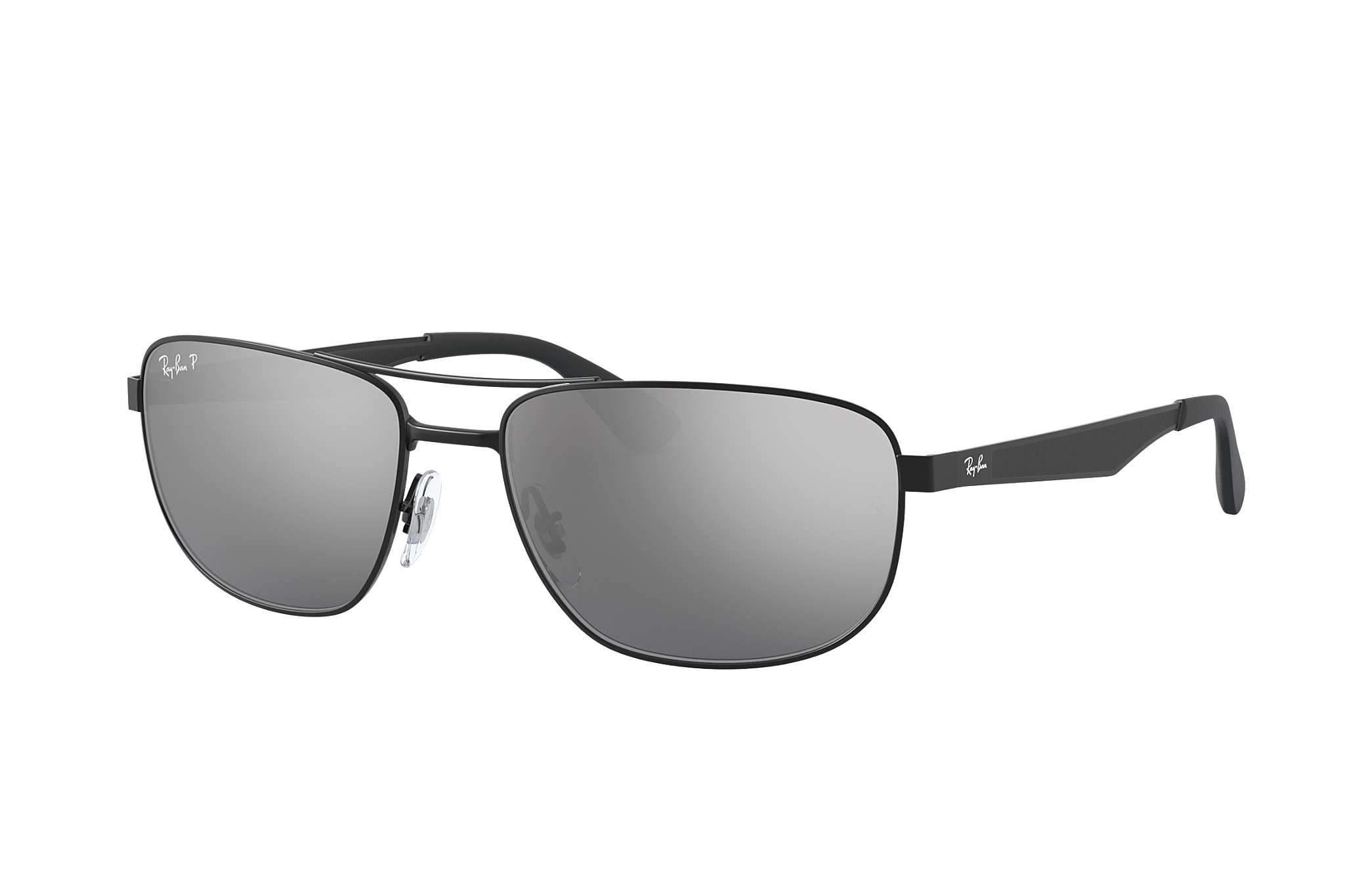 Middle East Map Your Child Learns%0A RayBan RB     Black with Silver Mirror lens