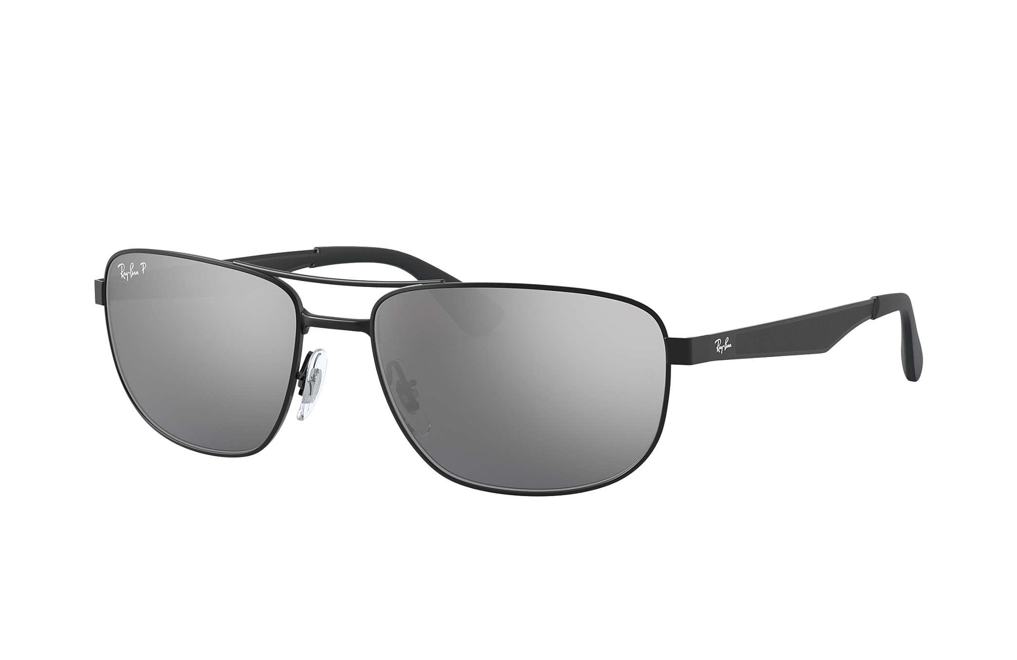 Area Code De Usa%0A RayBan RB     Black with Silver Mirror lens