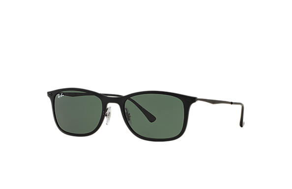 Ray-Ban Sunglasses NEW WAYFARER LIGHT-RAY Black with Green Classic lens