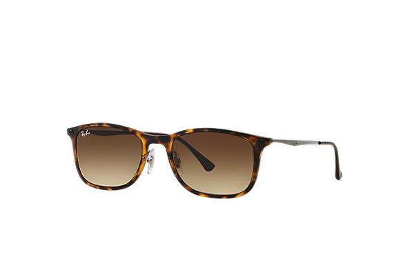Ray-Ban 0RB4225-NEW WAYFARER LIGHT RAY Tortoise; Gunmetal SUN
