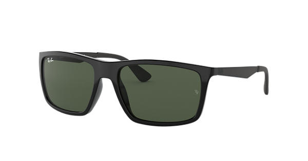 fa19f9d824 Ray-Ban RB4228 Black - Nylon - Green Lenses - 0RB4228601 7158