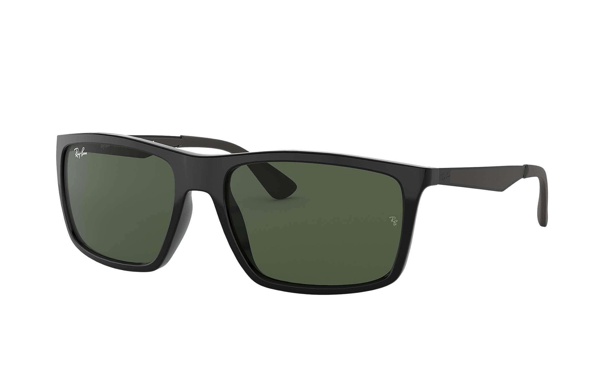 2174a5316bd Ray-Ban RB4228 Black - Nylon - Green Lenses - 0RB4228601 7158