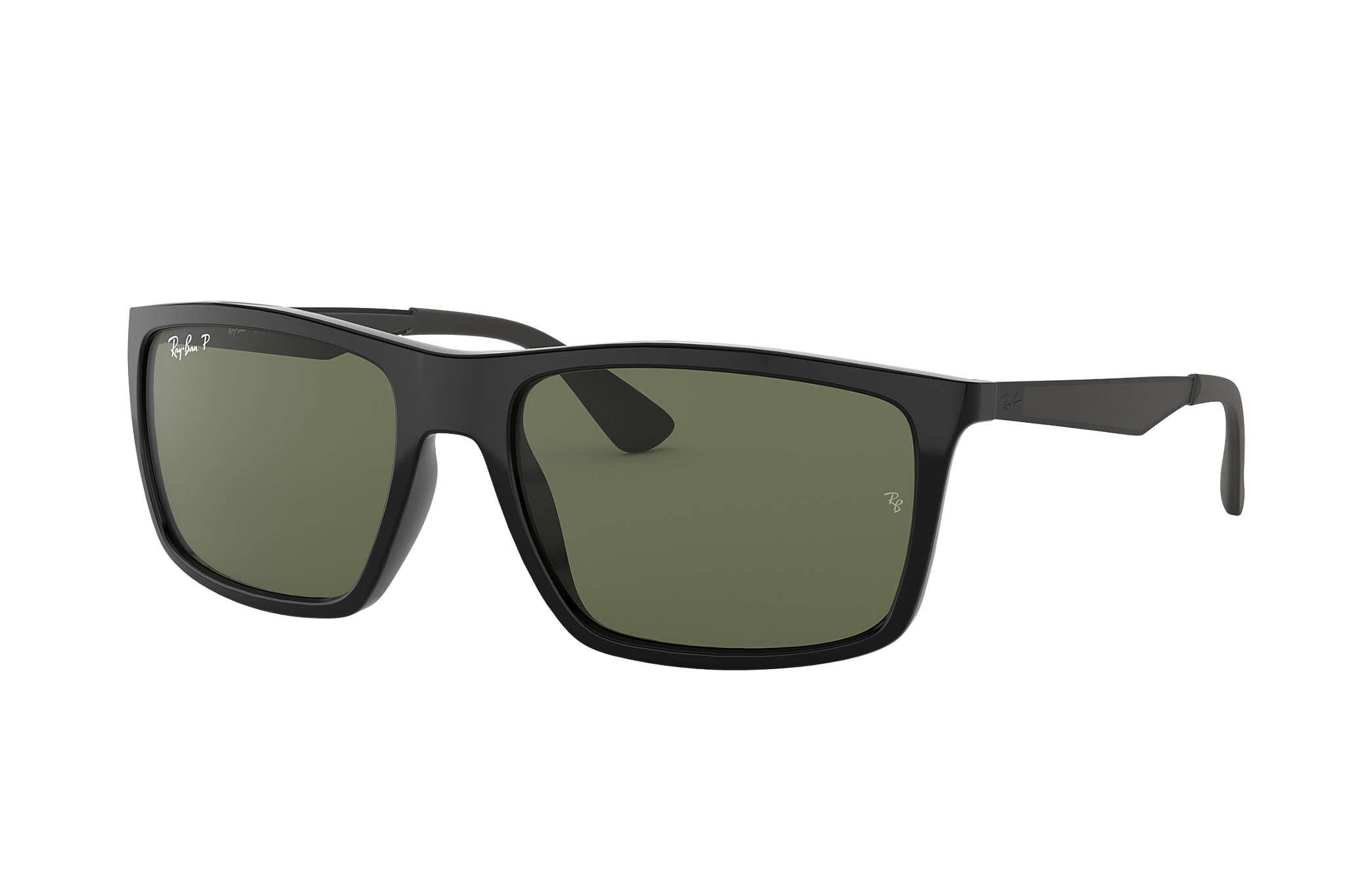 1fbd8441da Ray-Ban RB4228 Black - Nylon - Green Polarized Lenses - 0RB4228601 ...