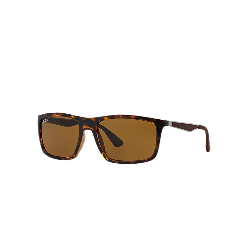 Ray-Ban Gunmetal Sunglasses, Polarized Brown Lenses -