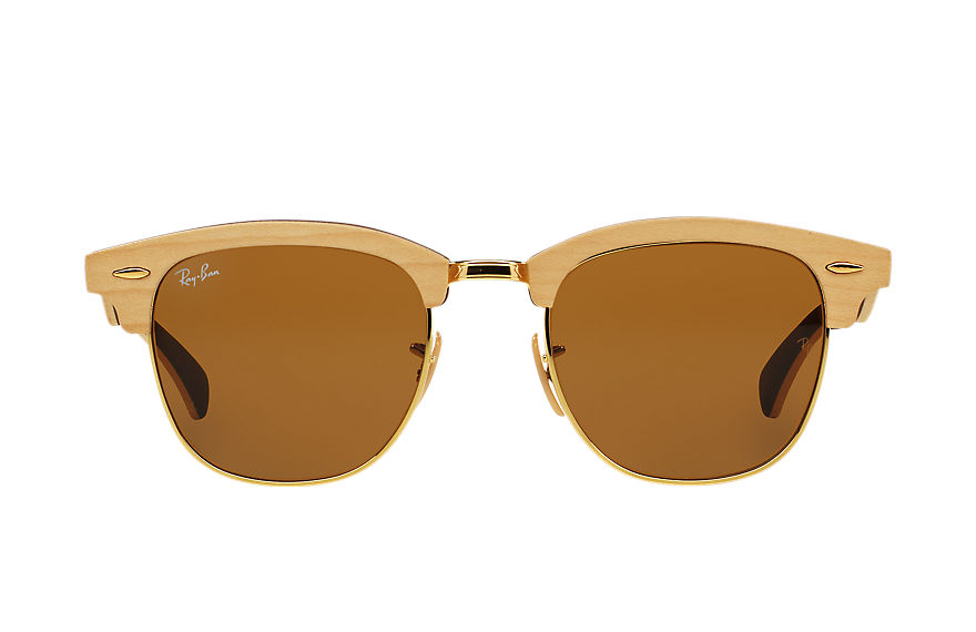 Ray-Ban  sunglasses RB3016M UNISEX 001 clubmaster wood light brown 8053672416053